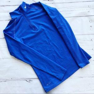 Nike Pro Combat Quarter Zip dry fit top shirt